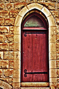 Doorway Digital Art Posters - The Red Door Poster by Paul Topp