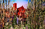 Red Garden Posters - The Red House Poster by Bill Cannon
