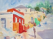 Hill District Painting Posters - The Red House Bo-Kaap Poster by Elinor Fletcher