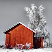 Thomas Berger Metal Prints - The red house Metal Print by Thomas Berger