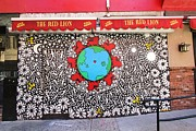 Allen Beatty Posters - The Red Lion Mural Poster by Allen Beatty
