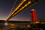 Lights Photo Originals - The Red Little Lighthouse by Eduard Moldoveanu