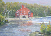 Healing Art Paintings - The Red Mill by  Luczay
