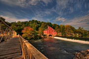 Grist Mills Framed Prints - The Red Mill Framed Print by Paul Ward