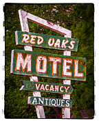 Urban Scene Digital Art Framed Prints - The Red Oaks Motel Framed Print by Perry Webster