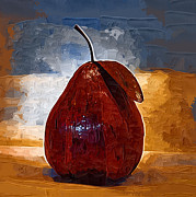 Paper Mache Art - The Red Pear by Kirt Tisdale