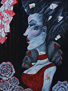 Alice In Wonderland Paintings - The Red Queen by Leia Sopicki