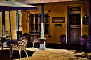 Adobe Buildings Prints - The Red Rock Cafe - Old Town - Albuquerque Print by David Patterson