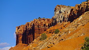 Red Mountains Prints - The Red Rock Of Capital Reef Print by Jeff  Swan