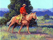 Chaps Paintings - The Red Shirt by Randy Follis