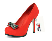 At Work Digital Art Prints - The Red Shoe Print by Alex Hardie
