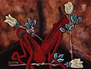 The Red Shoes Print by Barbara St Jean