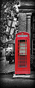 Brick Street Framed Prints - The Red Telephone Box - Time for Tea III Framed Print by Lee Dos Santos