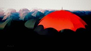 The Red Umbrella Print by Bob Orsillo