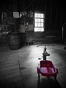 Grist Mill Digital Art - The Red Wagon by Natasha Marco