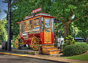 Ohio Red Prints - The Red Wagon of Sandusky Ohio Print by Pamela Baker