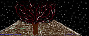Towns Digital Art - The Red Winter Tree by Cynthia  Johnson
