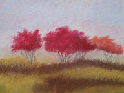 Bud Pastels Prints - The Redbuds  Print by Mary Ellen Bitner