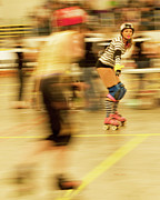 Roller Skates Photo Prints - The Ref Print by Theresa Tahara