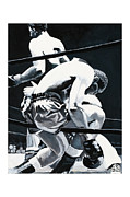 Rocky Marciano Framed Prints - The Referee Framed Print by Mike Walrath