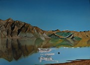Plane Paintings - The remarkable mountains 1 by Carolyn Judge