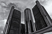 Rcnaturephotos Photos - The Renaissance Center  BW by Rachel Cohen