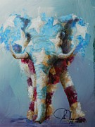 Elephant Painting Acrylic Prints - The Republican Acrylic Print by John Henne