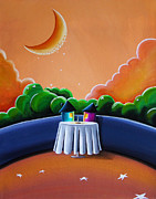 Moon Paintings - The Restaurant by Cindy Thornton