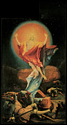 The Resurrection Of Christ Paintings - The Resurrection of Christ by Matthias Grunewald