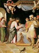 The Resurrection Of Christ Paintings - The Resurrection of Jairuss Daughter by Santi Di tito