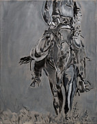 Grisaille Paintings - The Return by Denise Boineau