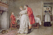 Old Age Painting Prints - The Return of the Huntsman  Print by George Goodwin Kilburne