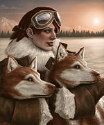 Huskies Digital Art Posters - The Return of the Sun Poster by Mark Zelmer