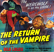 Scary Digital Art - The Return of the Vampire by Columbia Pictures