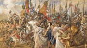 Figures Metal Prints - The Return of the Victors Metal Print by Sir John Gilbert