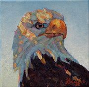 American Bald Eagle Painting Prints - The Return Print by Patricia A Griffin