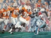 Football Paintings - The Return  by Tioga Dan  Sloane