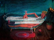 Reward Originals - THE REWARD  lady in tub by Micah Moore