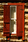 Catherine Window Framed Prints - The Reynolds Cabin Window Framed Print by Catherine Fenner