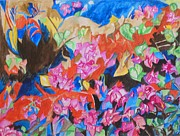 Watercolorist Painting Originals - The Rhythm of Flowers by Esther Newman-Cohen