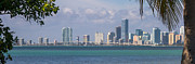 Florida Bridges Prints - The Rickenbacker and Miami Print by Ed Gleichman