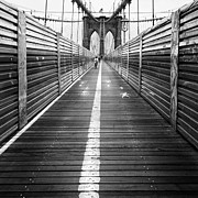 Gritty Framed Prints - The Riders Brooklyn Bridge Framed Print by John Farnan