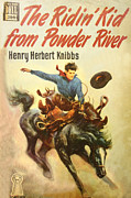 Book Cover Art - The Ridin Kid From Powder River by Studio Artist