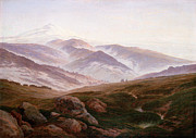 Caspar Framed Prints - The Riesengebirge  Framed Print by Caspar David Friedrich