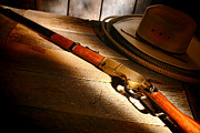 Cowboy Hat Photo Posters - The Rifle Poster by Olivier Le Queinec