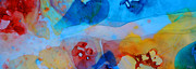 Pink Abstract Art Paintings - The Right Path - Colorful Abstract Art by Sharon Cummings by Sharon Cummings