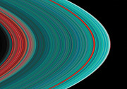Black Ring Photos - The Rings of Saturn by Anonymous