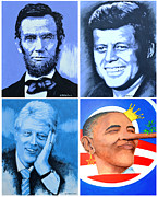 President Paintings - The Rise and the Fall of America by Victor Minca