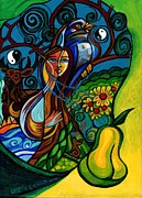 Fantasy Tree Art Painting Posters - The Rite Of Spring Poster by Genevieve Esson