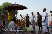 Durga Puja Photos - The Rituals to Durga Puja by Nilanjana C